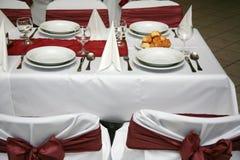 венчание таблицы партии случая установленное Стоковое Изображение