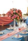 венчание таблицы приема партии случая установленное Стоковые Фотографии RF
