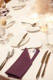 венчание таблицы приема Стоковая Фотография RF