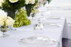 венчание таблицы установки Стоковая Фотография RF