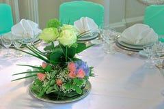 венчание таблицы цветков Стоковая Фотография RF