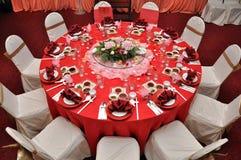 венчание таблицы Стоковые Изображения