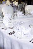 венчание таблицы партии случая установленное Стоковые Фотографии RF