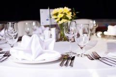 венчание таблицы партии случая установленное Стоковые Изображения RF