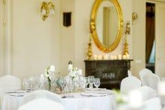 венчание таблицы приема партии случая установленное Стоковое фото RF