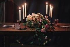 венчание таблицы приема партии случая установленное Стоковые Изображения RF