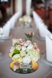 венчание таблицы приема партии случая установленное Стоковая Фотография RF