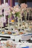 венчание таблицы приема партии случая установленное Стоковое Изображение RF