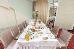 венчание таблицы приема партии случая установленное Стоковые Изображения