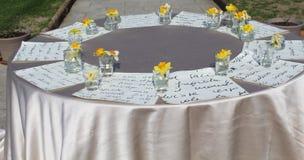 венчание таблицы стекел фокуса Стоковые Изображения RF
