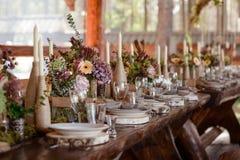 венчание таблицы стекел фокуса Стоковое Изображение