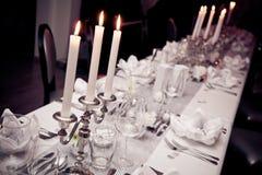 венчание таблицы стекел фокуса Стоковые Фотографии RF