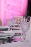 венчание таблицы стекел фокуса Стоковое фото RF