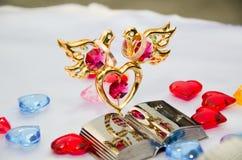 венчание тесемки приглашения цветка элегантности детали украшения предпосылки Стоковая Фотография RF
