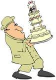 венчание торта хлебопека иллюстрация штока