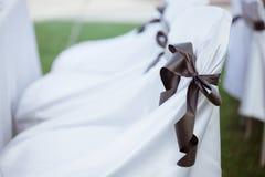 венчание установленное стулами Стоковые Фото