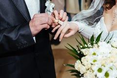 венчание цветка церемонии невесты Загс Нов-пожененное Стоковые Изображения RF