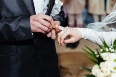 венчание цветка церемонии невесты Загс Нов-пожененное Стоковое Изображение RF