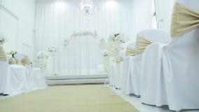 венчание цветка церемонии невесты сток-видео