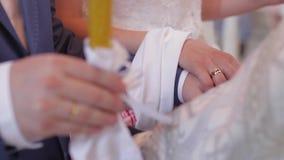 венчание цветка церемонии невесты акции видеоматериалы