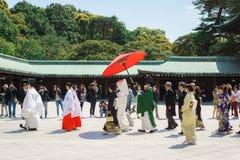 венчание церемонии японское синтоистское Стоковое Изображение