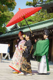 венчание церемонии японское синтоистское Стоковые Изображения