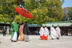 венчание церемонии японское синтоистское Стоковые Фото