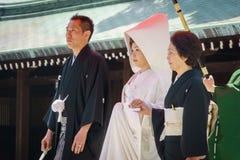 венчание церемонии японское синтоистское Стоковая Фотография RF