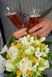 венчание шампанского букета Стоковое Изображение RF