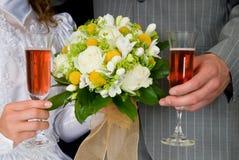 венчание шампанского букета Стоковая Фотография RF
