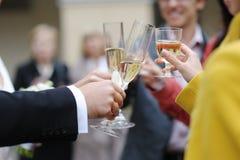 венчание шампанского торжества Стоковое Фото