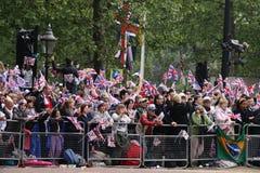 венчание 2011 толпы королевское Стоковое Изображение RF
