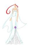 венчание 3 платьев иллюстрация вектора