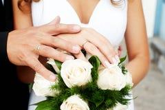 венчание armourer букет кольца супруг супруга Цветы стоковое фото