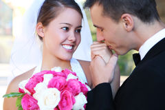 венчание groom невесты стоковое фото rf