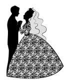 венчание groom церков церемонии невесты Стоковое Изображение