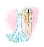 венчание groom церков церемонии невесты бесплатная иллюстрация