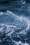 Вены, океанская волна, пузырь и foa абстрактной голубой предпосылки белые стоковые изображения rf