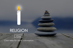 Вера вероисповедания считает, что духовность надежды бог молит концепцию Стоковые Фотографии RF