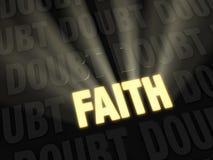 Вера затмевает сомнение Стоковая Фотография