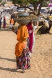 Верблюд Mela Pushkar в Раджастхане, Индии Стоковые Фото