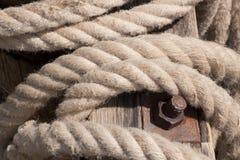 веревочка анкера старая Стоковое Изображение
