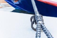 Веревочка анкера с узлом Стоковые Фото