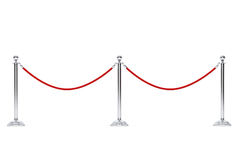Веревочка барьера крупного плана Стоковые Фото