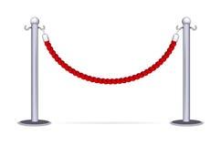 Веревочка барьера Стоковые Фото