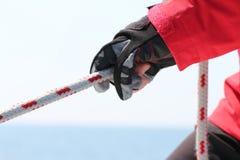 Веревочка в руках Стоковые Фотографии RF