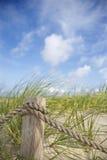 веревочка загородки пляжа Стоковое фото RF