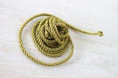 веревочка золота стоковые изображения