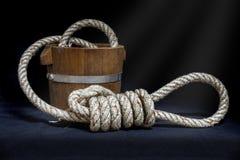Веревочка и узел Стоковое Фото