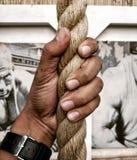 Веревочка и я стоковое изображение rf